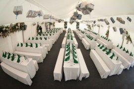 Multifunktionszelt mit Kassettenfussboden in Wiesloch
