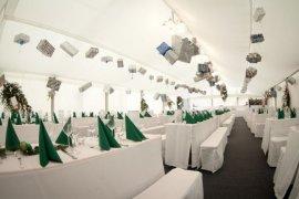 Hochzeitszelt mit Kassettenfussboden in Wiesloch