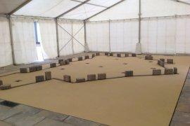 Multifunktionszelt mit Zeltbeschwerung Betongewichte in Speyer