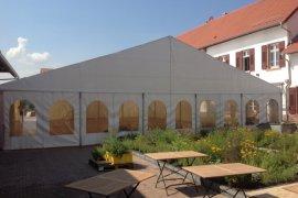 Empfangszelt in Bensheim / Gernsheim