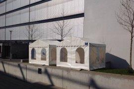 Informationsstand Multiflexzelt in Mannheim