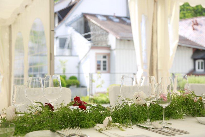 Hochzeitszelt im Arthotel Heidelberg