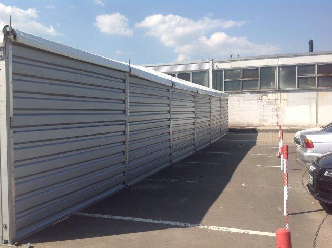 Lagerzelt mit Blechverkleidung in Kirchheimbolanden
